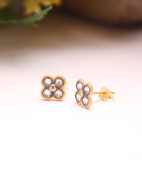 Clover Vermeil Earring