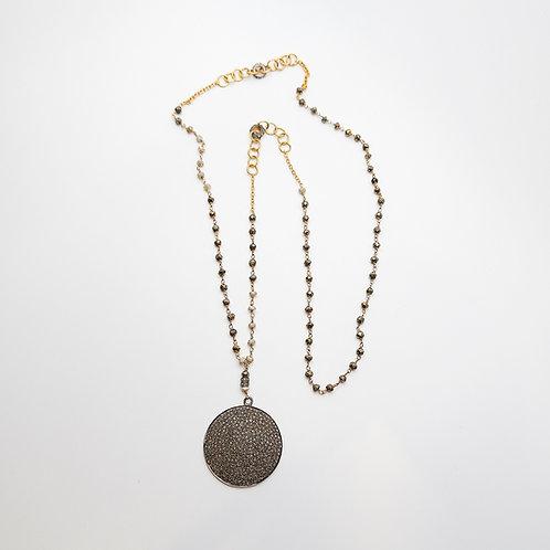 Handmade Diamond Pave Necklace
