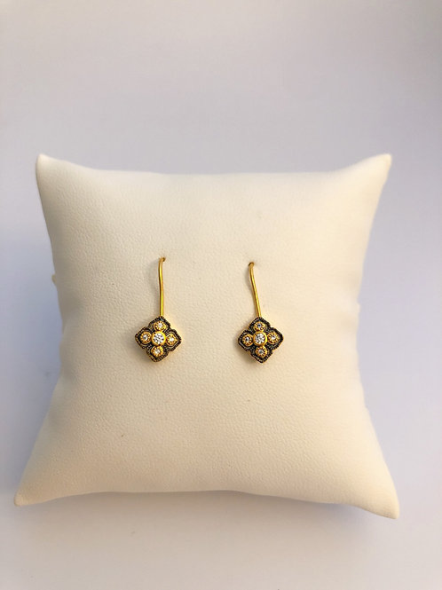 Mini Vermeil Hook Earrings