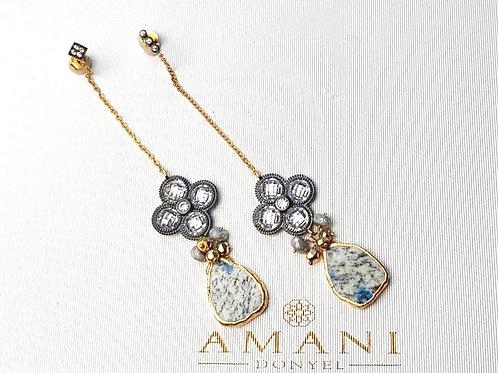 Ocean Jasper Handmade Earrings