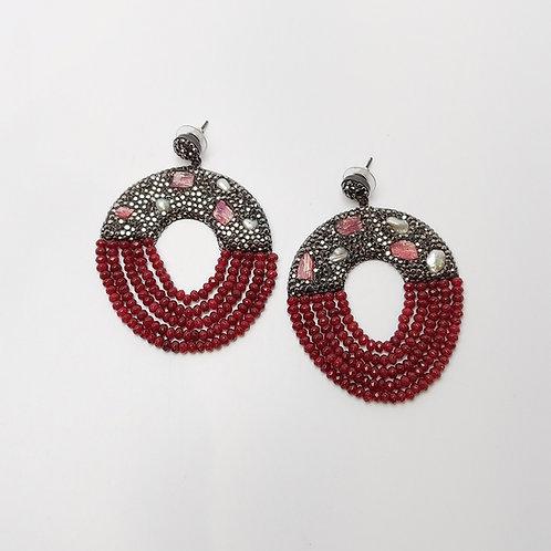 Vintage Silver Oxidized Earring
