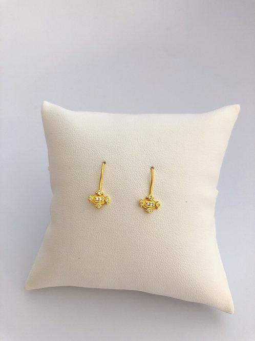 Dainty Vermeil Hook Earrings