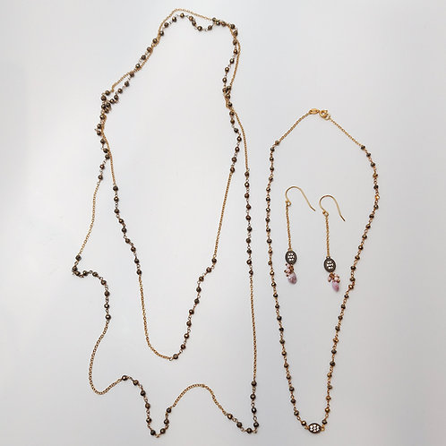 Layered Necklaces and Earrings Set