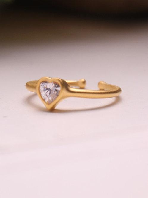 Heart Vermeil Ring