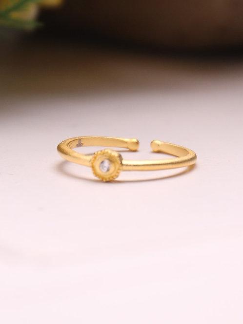 1-Dot Vermeil Ring