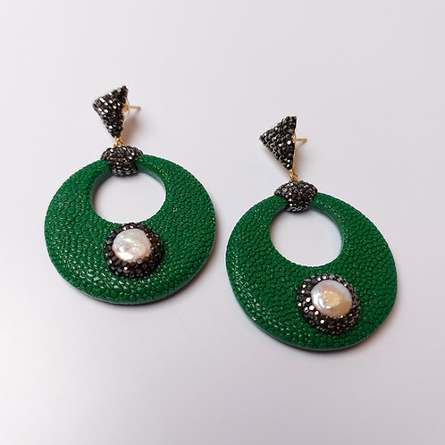 Extravagant Leather Earring