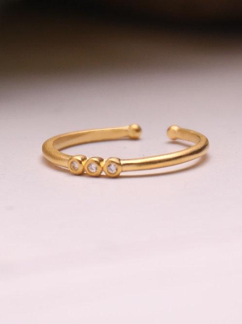 3-Dot Vermeil Ring