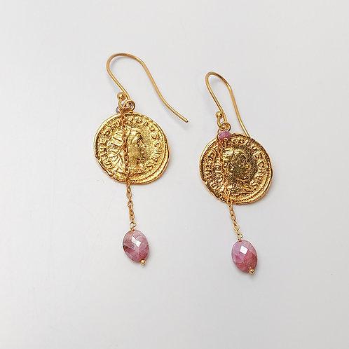 Handmade Coin Earrings