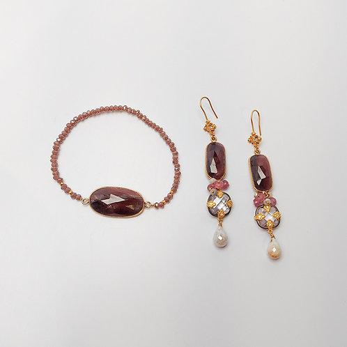 Handmade Bracelet and Earrings Set