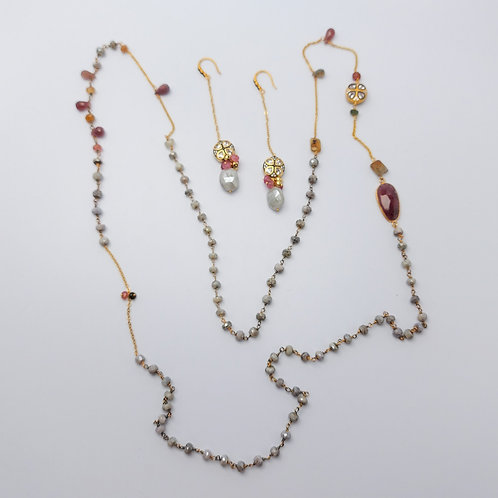 Handmade Necklace and Earrings