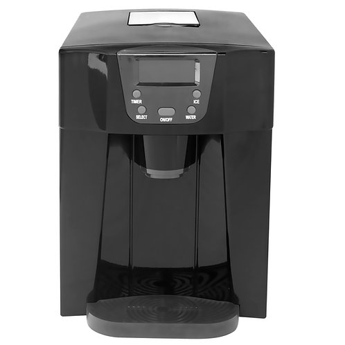 Countertop Ice Maker with Water Dispenser, Black