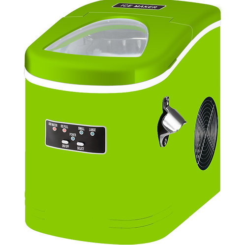 Compact and Portable Ice Maker, Lime Green
