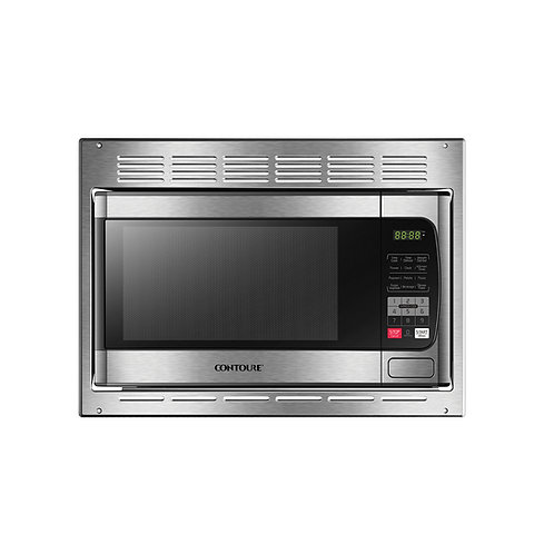 BUILT-IN 1.0 Cu.Ft, Mid-Size Microwave Oven & Trim/Venting Kit, Stainless Steel