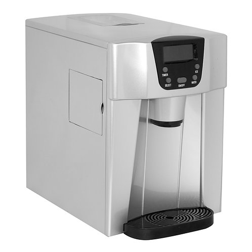 Countertop Ice Maker with Water Dispenser, Silver