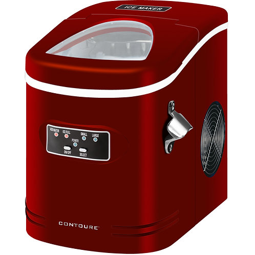 Compact and Portable Ice Maker, Red