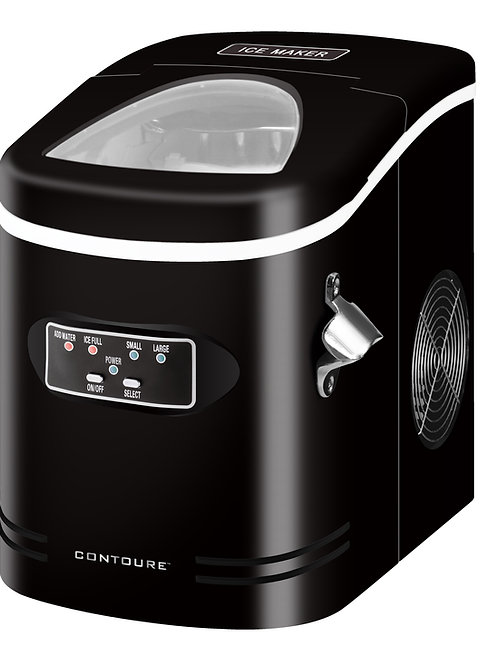 Compact and Portable Ice Maker, Black