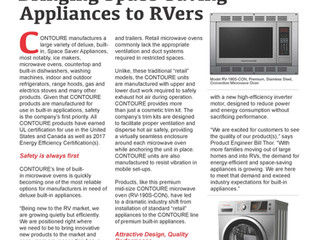Bringing Space Saving Appliances to RVers