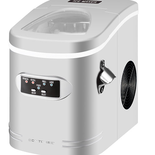 Compact and Portable Ice Maker, Silver