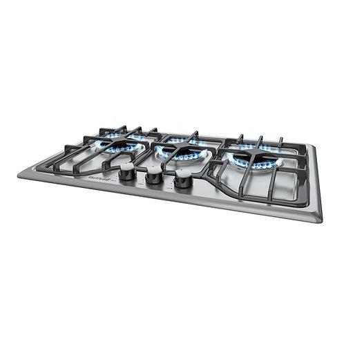 Deluxe, 3-Burner Built-In Gas Cooktop, Stainless Steel