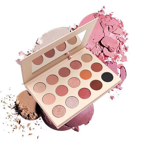 MUA Favorite Nudes - 15 Colors Eyeshadow Palette Matte Shimmer Make Up Eyeshadow