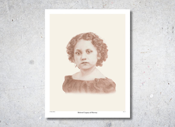"Portrait No. 11 Print - Beloved: Legacy of Slavery (11"" x 14"")"