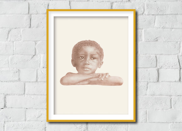 "Portrait No. 6 Print - Beloved: Legacy of Slavery (11"" x 14"")"