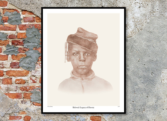"Portrait No. 10 Print - Beloved: Legacy of Slavery (11"" x 14"")"