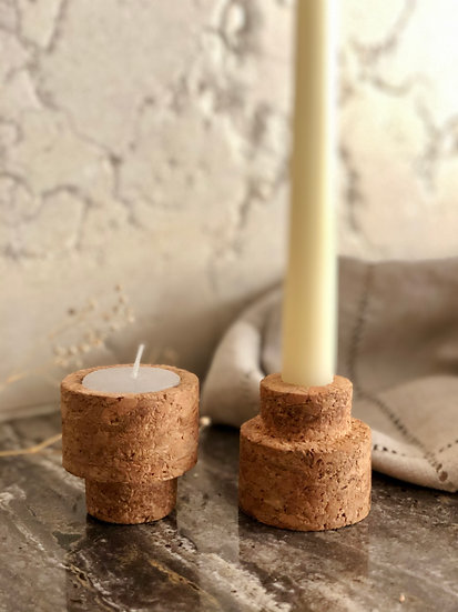 Reversible Candle Stands- Set of 2
