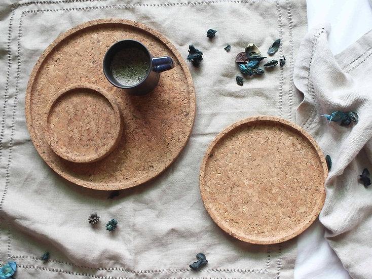 Cork Trays - Set of 3