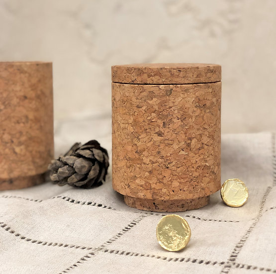 Cork Container with Lid