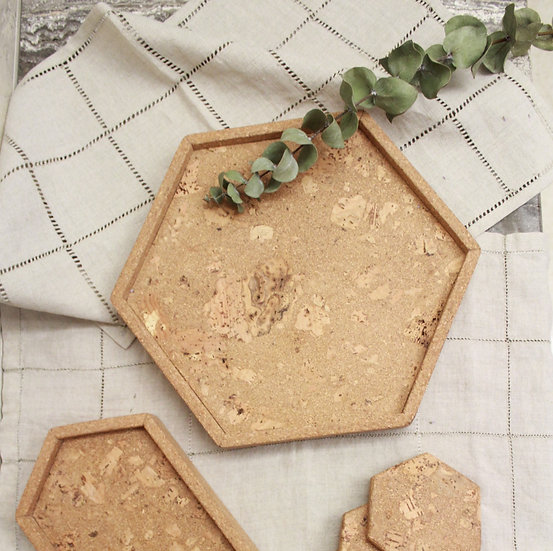 Textured Hex Tray - Large