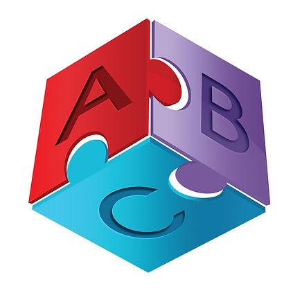 logo design, autism logo, ABC logo, puzzle piece logo