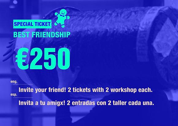 Friendship tickets with 2 workshop each