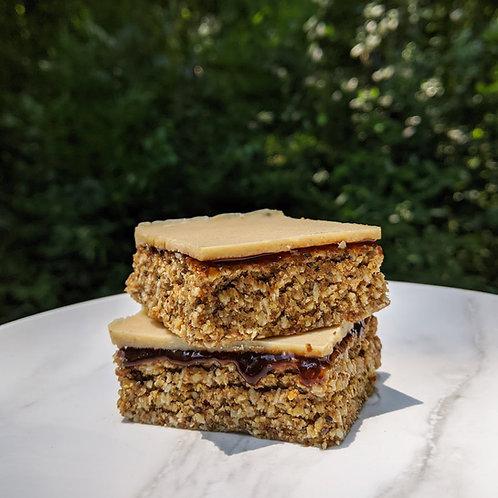 White Fudge Caramel Bliss Bars