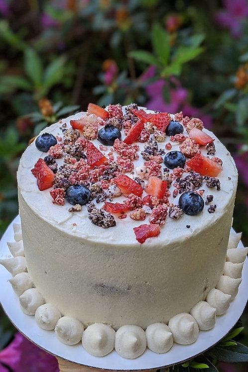 Berry-fetti Crumble Cake