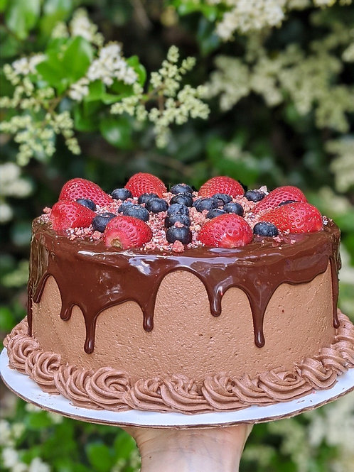 Triple Chocolate Berry Cake