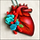 Thumbnail: Anatomical Heart And Blue Flowers II Ornament