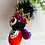 Thumbnail: Orange Frida with Purple Wings Skeleton Angel Art Ornament