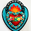 Thumbnail: Teal Sacred Heart with Hearts and Flowers