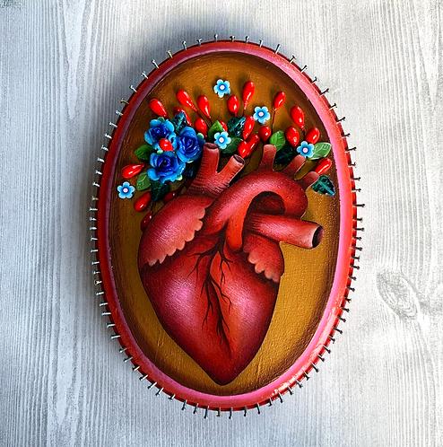 Blooming Anatomical Heart I Wall Art
