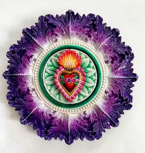 Purple and Green Sacred Heart