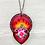 Thumbnail: Sacred Heart with Pink Rose Pendant Necklace