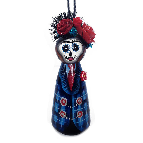Frida In A Man's Blue Suit Ornament