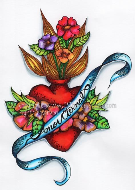 Original Sacred Heart No.4 Illustration