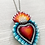 Thumbnail: Blue Sacred Heart Pendant Necklace