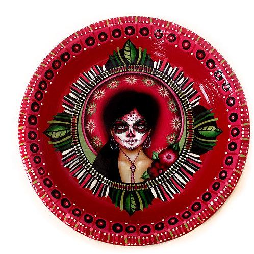 Red & Green Catrina Jewelry Dish