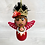 Thumbnail: Sweet Red Crowned Frida Angel Art Ornament