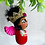 Thumbnail: Sweet Red and Pink Winged Frida Angel Art Ornament