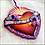 Thumbnail: Sacred Heart With Purple Flowers Ornament
