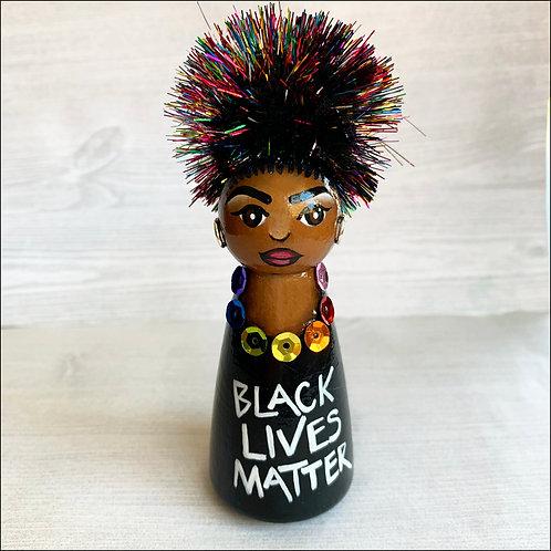Black Lives Matter Sweet Girl Art Ornament